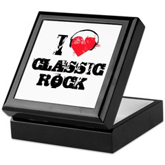 I love classic rock Keepsake Box