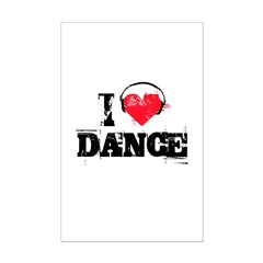 I love dance Mini Poster Print