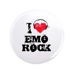 "I love emo rock 3.5"" Button"