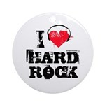 I love hard rock Ornament (Round)