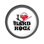 I love hard rock Wall Clock