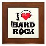 I love hard rock Framed Tile
