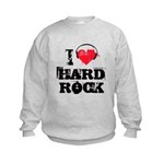 I love hard rock Kids Sweatshirt