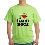 I love hard rock Green T-Shirt