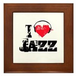 I love jazz Framed Tile