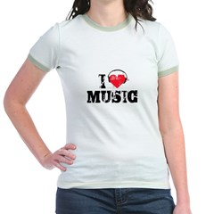 I love music Jr. Ringer T-Shirt