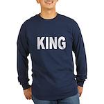 King (Front) Long Sleeve Dark T-Shirt