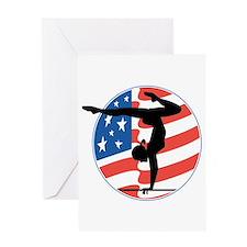 U.S.A Gymnastics Greeting Card
