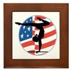 U.S.A Gymnastics Framed Tile