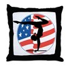 U.S.A Gymnastics Throw Pillow