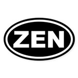 ZEN Black Euro Oval Decal