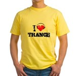 I love trance Yellow T-Shirt