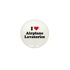I love airplane lavatories Mini Button (10 pack)
