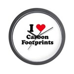 I love carbon footprints Wall Clock