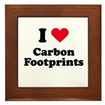 I love carbon footprints Framed Tile