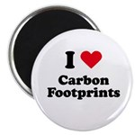 I love carbon footprints Magnet