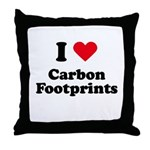 I love carbon footprints Throw Pillow
