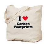I love carbon footprints Tote Bag