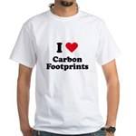 I love carbon footprints White T-Shirt
