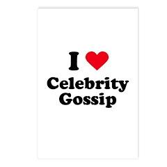 I love celebrity gossip Postcards (Package of 8)