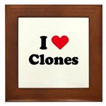 I love clones Framed Tile