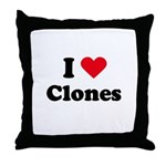 I love clones Throw Pillow