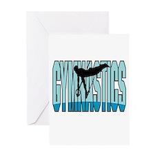 Gymnastics Logo Greeting Card