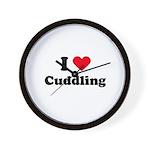 I love cuddling Wall Clock