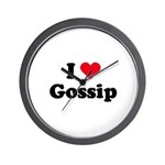 I love gossip Wall Clock