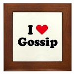 I love gossip Framed Tile