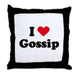 I love gossip Throw Pillow