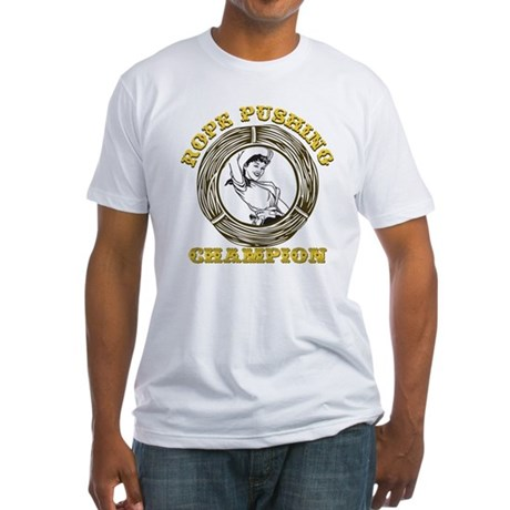 Rope Pushing Champion Fitted T-Shirt