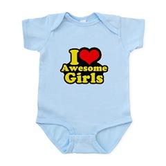 I love awesome girls Infant Bodysuit
