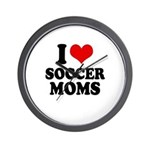 I love soccer moms Wall Clock