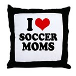 I love soccer moms Throw Pillow
