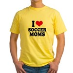 I love soccer moms Yellow T-Shirt