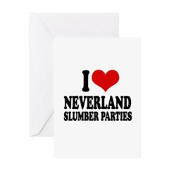 I love neverland slumber parties Greeting Card