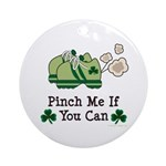 St Patrick's Day Runner Ornament (Round)