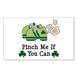 St Patrick's Day Runner Rectangle Sticker