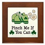 St Patrick's Day Runner Framed Tile