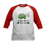 St Patrick's Day Runner Kids Baseball Jersey
