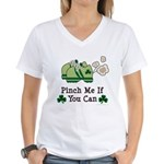 St Patrick's Day Runner Women's V-Neck T-Shirt