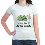 St Patrick's Day Runner Jr. Ringer T-Shirt