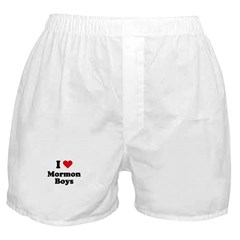 I love mormon boys Boxer Shorts