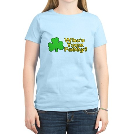 Who's Your Paddy? Womens Light T-Shirt