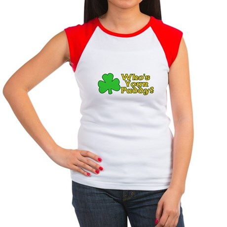 Who's Your Paddy? Womens Cap Sleeve T-Shirt