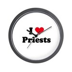 I love priests Wall Clock
