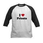 I love priests Kids Baseball Jersey