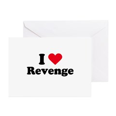 I love revenge Greeting Cards (Pk of 20)