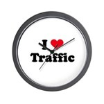 I love traffic Wall Clock